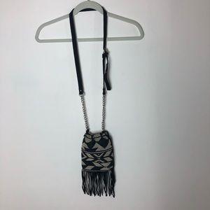 Cross body drawstring pouch purse